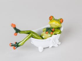 Figur Frosch in Badewanne
