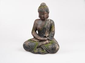 Figur Buddha 50cm Patina