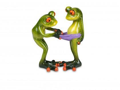 Figur Froschpaar 14cm